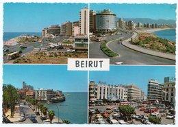 LIBAN/LEBANON - BEYROUTH/BEIRUT - GENERAL VIEW (GULBENK TRADING) / OLD CARS-AUTOBUS / GAS PUMP - Libano