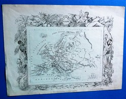 Europe Et Océanie, Carte Géographique Ancienne Recto/verso Par Georges Hurtrel. - Carte Geographique
