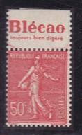 PUBLICITE: SEMEUSE LIGNEE 50C ROUGE BLECAO-toujours Bien Digéré HAUT ACCP 241* - Advertising