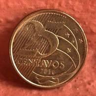 LSJP BRAZIL COIN 25 CENTS 2016 - LOW SHOT - MBC+ - Brésil