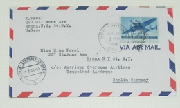 O) 1946 UNITED STATES -USA, TWIN MOTORED TRANSPORT PLANE SCT C30 30c -BERLIN ZENTRAL FLUGHAFEN-AMERICAN OVER SEAS -TEMPE - Etats-Unis