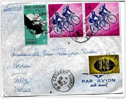 136 - 30 - Enveloppe Envoyée De Conakry /Guinée En Suisse  1965 - 2 Timbres Cyclisme - Radsport