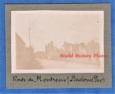 Photo Ancienne D'un Poilu - BADONVILLER - Route De Montreux - Front Soldat WW1 Vosges - Guerre, Militaire