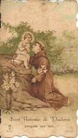 """Santino Di """"Sant'Antonio Di Padova Con Gesù Bambino"""" Anno 1901 - Devotion Images"""