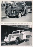 718 - Automobile - 2 Photos - 27 Août 1939 - Renault Et Peugeot - Automobile