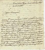"""1793 REVOLUTION   LA """"TERREUR"""" En TOURAINE TOURS => Veretz (Indre & Loire)  VIVRES AU PROFIT DE L ARMEE , MENACES .ETC . - Manuscrits"""
