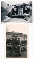 728 - Automobile - 2 Photos - En Panne, Cette Belle CITROËN Traction - Le Galibier 1952 - Auto's