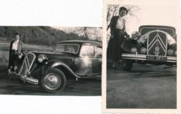 731 - Automobile - 2 Photos - Une Belle Traction CITROËN - Automobili