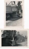 742 - Automobile - 2 Photos - Gravillonneuse Mécanique Au Lautaret - Hautes-Alpes -  En 1931 - Cars