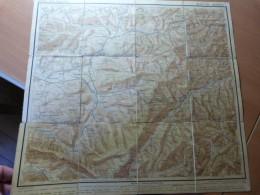 Carte. Karte Der Vogesen. Blatt XIII. Markirch. Sainte-Marie-aux-Mines. Alsace - 1901-1940