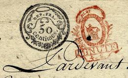 1793 ACTE Notarié ACQUISITION DE TERRES à  MONTARGIS (LOIRET) AVEC CACHETS B.E.VOIR SCANS - Documentos Históricos