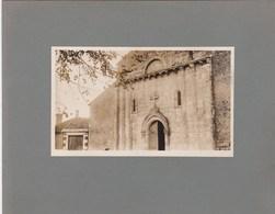 Photo Originale Collée Sur Carton : Eglise Romane D'Anglade Portail (33) Dans Le Blayais   En 1929 - Plaatsen