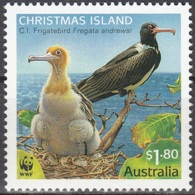 Christmas Island 2010 WWF Jeune Frégate D'Andrews Neuf ** - Christmas Island