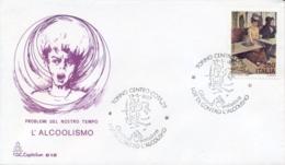 Italia 1987 FDC CAPITOLIUM Lotta Contro L'alcolismo Annullo Di Torino Fight Again Alcoholism - Salute