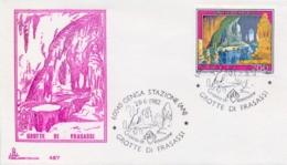 Italia 1982 FDC CAPITOLIUM Grotte Di Frasassi Annullo Di Genga Stazione Frasassi Caves - Altri