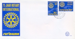 Surinam Suriname 1980 FDC 75th Anniversary Of Rotary International - Rotary, Lions Club