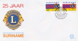 Surinam Suriname 1982 FDC 25th Anniversary Lions International In The Suriname - Rotary, Lions Club