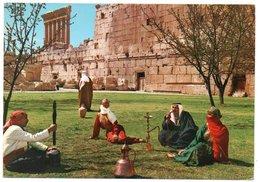 LIBAN/LEBANON - BAALBECK-LEBANESE GIRLS IN THEIR NATIONAL DRESS / COSTUMES / FOLKLORE - Libano