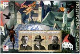 2018 Czech Rep. -100 Years Of Postal Museum In Praha- Praha 2018 - MS - MNH** MiNr.Block 71 (rg) Dove, Coach Airplane - Tschechische Republik