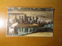 CARTOLINA  SENEGAL  1918  AUTOR D UN PUITS DAMS L INTERIEUR    CENSURA MILITARE       - D 2935 - Senegal