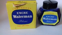 Flacon Encre Waterman Bleue Dans Sa Boîte - Encriers