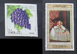 Yemen Arab Republic 1967 Fruit Grapes And Painting - Yemen