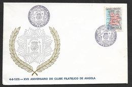 Angola Portugal Cachet Commémoratif 1975 Anniversaire Du Club Philatélique Event Postmark Philatelic Club Anniversary - Angola