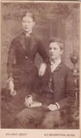 ANTIQUE CDV PHOTO - COUPE. MAN SEATED . KNIGHTSBRIDGE STUDIO - Photographs
