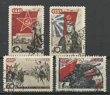 RUSSLAND RUSSIA 1938 Michel 588 & 591 & 593 - 594 O - 1923-1991 USSR