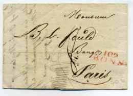 Dept Conquis / 102 BONN / Dept Rhin Et Moselle - Rhein Und Mosel / 1812 - 1801-1848: Vorläufer XIX
