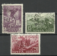 RUSSIA 1932 Michel 414 & 417 - 418 O - Usados
