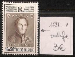 [822022]Belgique  - N° 1627V, Balafre, Rois - Abarten Und Kuriositäten
