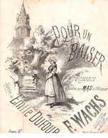 CAF CONC ROMANCE TRISTE PARTITION XIX POUR UN BAISER DUFOUR WACHS MAS ALCAZAR LGBT 1865 ILL BARBIZET - Music & Instruments