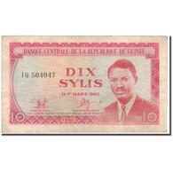 Billet, Guinea, 10 Sylis, 1960-03-01, KM:23a, TTB - Guinée