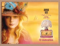 CC Carte ANNA SUI 'FLIGHT OF FANCY' Perfume Card CHINA 2 Scans - Modernes (à Partir De 1961)