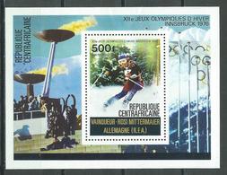 Centrafricaine Rép. Bloc-feuillet YT N°11 Vainqueur Aux Jeux Olympiques D'hiver Innsbruck 1976 Neuf/charnière * - Central African Republic