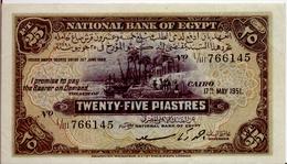EGYPT  P. 10e 25 Ps 1951 VF - Aegypten