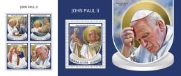 Z08 SRL18704ab SIERRA LEONE 2018 John Paul II MNH ** Postfrisch Set - Sierra Leone (1961-...)