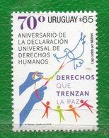1645 URUGUAY 2018-70 Aniver. De La Declaración Universal De Los DDHH-TT: Palomas,Manos,Paz,Cadena Humana. - Uruguay