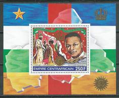 Centrafricain Empire Bloc-feuillet YT N°30 Hommage à Nos Souverains Neuf/charnière * - Central African Republic