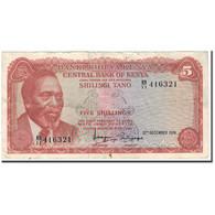 Billet, Kenya, 5 Shillings, 1974-12-12, KM:11a, TB+ - Kenya