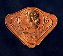 Label Brand New-etichetta Nuova-eitquette Neuf- Ambra Antica, Pietro Bortolotti, Bologna. First 900's 43mm X 34mm. - Etichette
