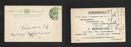 S.Africa, 1/2d Postal Card, Used JOHANNESBURG 16 APR 16 > Nylstroom,  A British Bookkeeper Canvassing For Work - South Africa (...-1961)