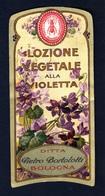 Label Brand New-etichetta Nuova-eitquette Neuf- Lozione Vegetale Alla Violetta , Pietro Bortolotti, Bologna. First 900's - Etiquettes