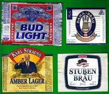 Beer Labels, Etichette Birra. Lotto Di Quattro, Lot Of Four. - Birra