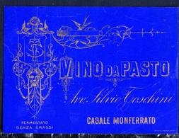 Label New- Etichetta Nuova-neuf Etiquertte De Vin. Vino Da Pasto, Avv. Silvio Toschini, Casale Monferrato. - Rouges