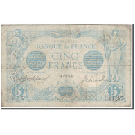 France, 5 Francs, 5 F 1912-1917 ''Bleu'', 1916-04-01, TB, Fayette:2.38, KM:70 - 1871-1952 Anciens Francs Circulés Au XXème