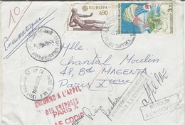 """1974- PNEUMATIQUE - Enveloppe  De PARIS-15 An.3  Affr. à 3,90 F  """" INCONNU A L'APPEL / DES PREPOSES /PARIS X  / LE CDDIP - Marcophilie (Lettres)"""