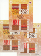 Indonesia 2011 3x Special M/S, MNH**, Perforated + Impre. Issue Quantity: 5,000,  Low Price - Indonesia