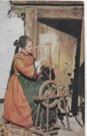 AK 0058  Frau In Kärntner Tracht Beim Spinnen - Verlag Leon Sen. Um 1910-20 - Trachten